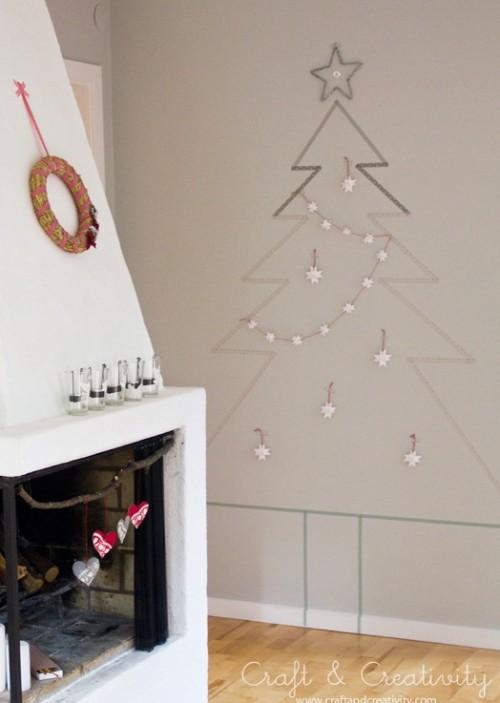 DIY Washitape Χριστουγεννιάτικο Δέντρο