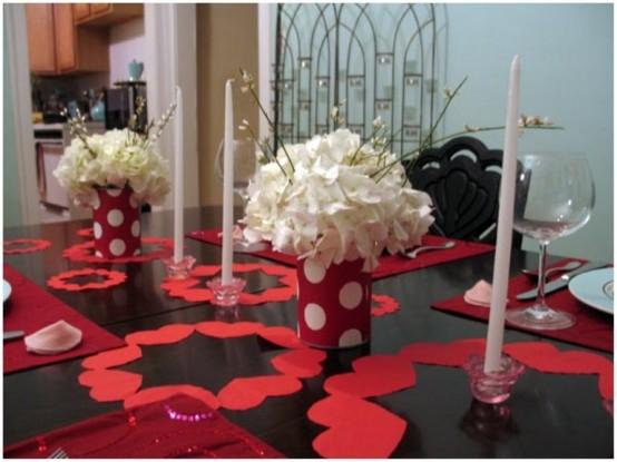 Διακόσμηση Αγίου Βαλεντίνου τραπέζι1