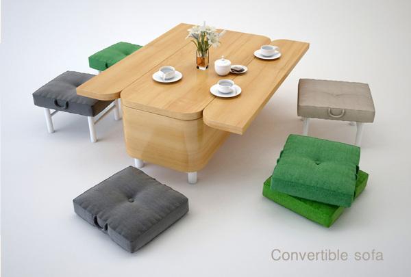 Καναπές που μεταμορφώνετε σε τραπέζι2