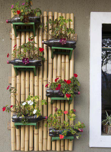Diy κάθετοι κήποι από  ανακύκλωση πλαστικών μπουκαλιών