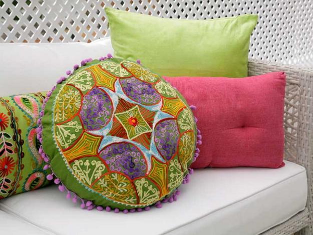 ροζ και πράσινοι συνδυασμοί χρωμάτων για την εξωτερική διακόσμηση4