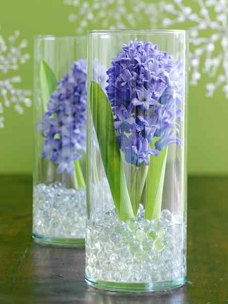 Διακόσμηση με μπλε λουλούδια2