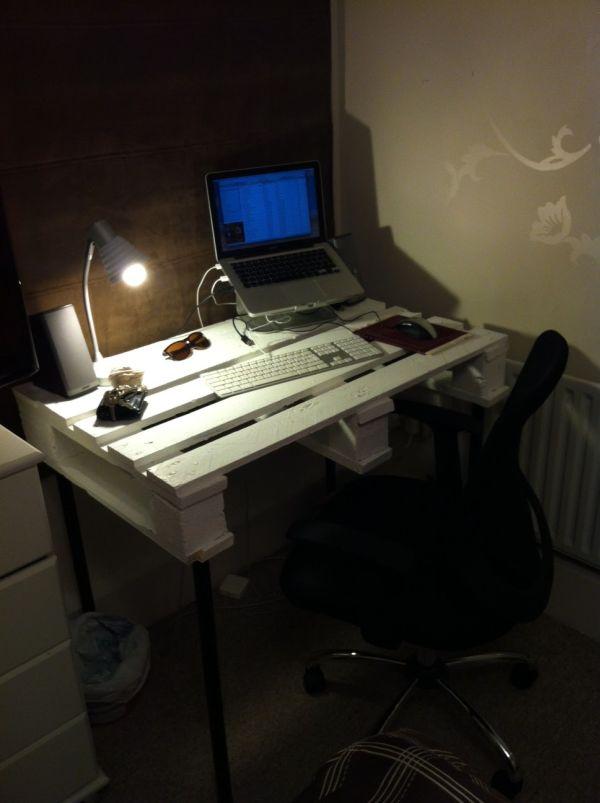 DIY γραφεία από παλέτες11