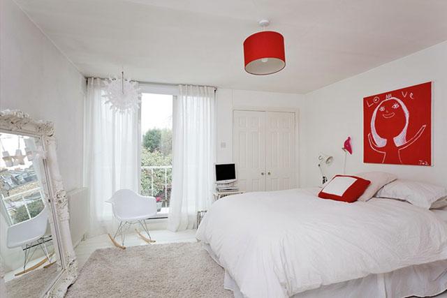Υπέροχες ιδέες για το σπίτι σας με συνδυασμό Λευκού και Κόκκινου χρώματος5