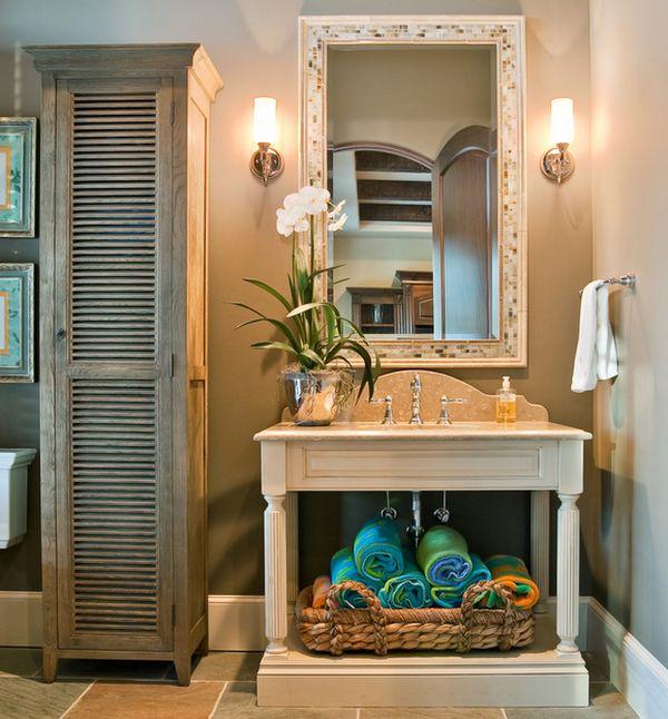 ιδέες για να οργανώσετε και να εκθέσετε τις πετσέτες στο μπάνιο σας1