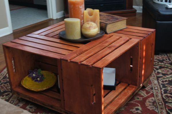 Όμορφα DIY τραπεζάκια από καφάσια
