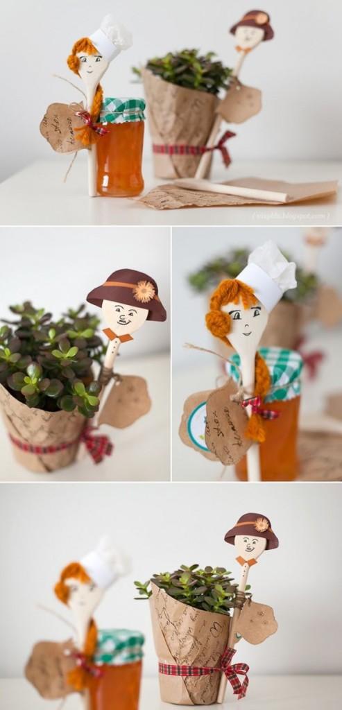 DIY Ξύλινές διακοσμητικές Χειροτεχνίες με Κουτάλια13