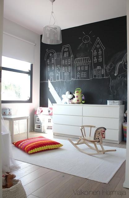 Ιδέες με Χρώμα μαυροπίνακα για παιδικό δωμάτιο11