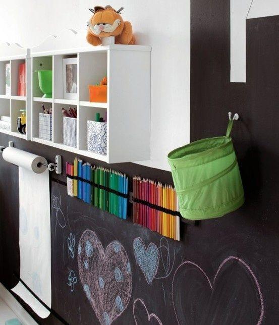 Ιδέες με Χρώμα μαυροπίνακα για παιδικό δωμάτιο21
