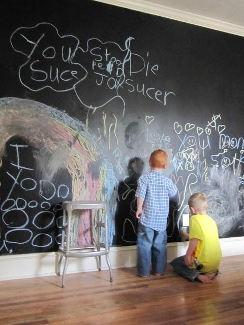 Ιδέες με Χρώμα μαυροπίνακα για παιδικό δωμάτιο22