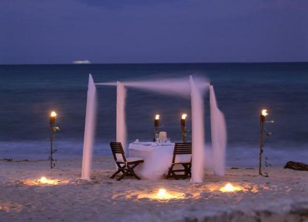 ιδέες για ρομαντικό Τραπέζι σε εξωτερικό χώρο19