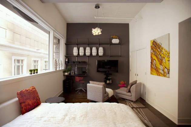 ιδέες  σχεδιασμού για να τονίσετε ένα τοίχο στο σαλόνι σας6
