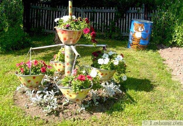 ασυνήθιστα δοχεία και γλάστρες για λουλούδια2