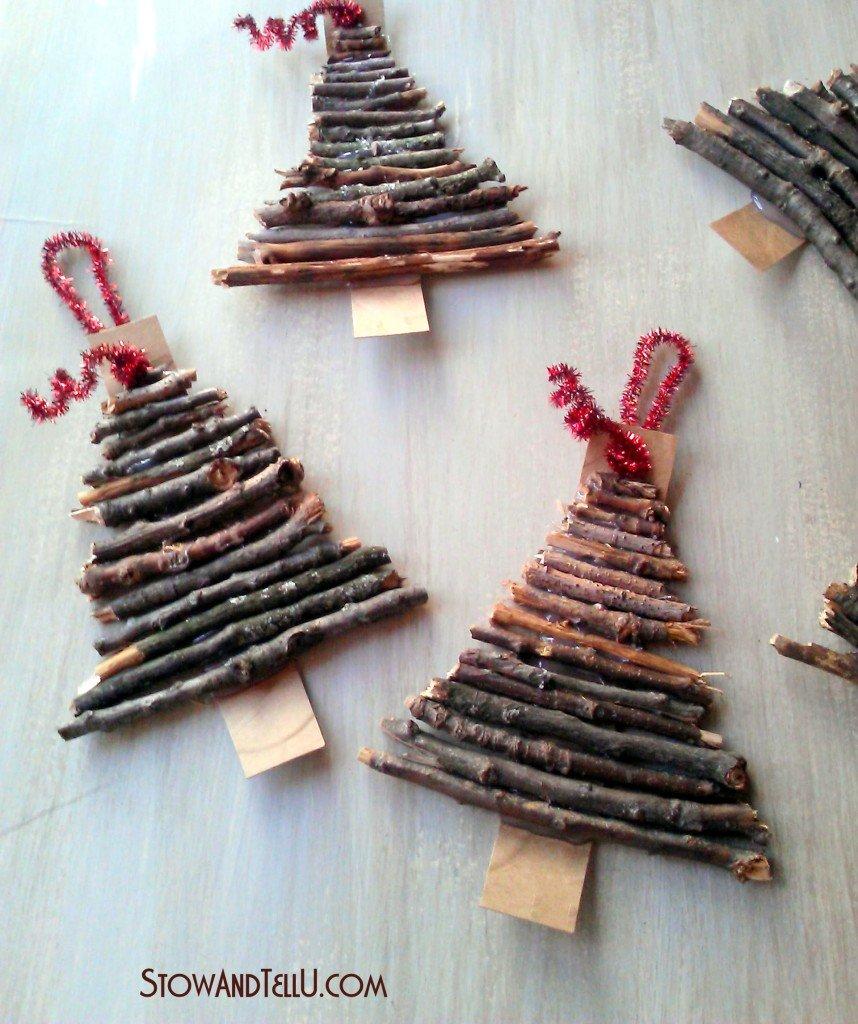 Ρουστικ Diy Γιορτινές διακοσμήσεις που μπορούν να κάνουν τα παιδιά σας