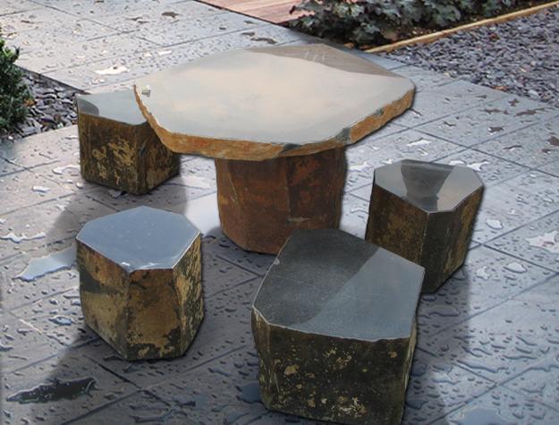 μοντέρνα έπιπλα από πέτρα και ξύλο12