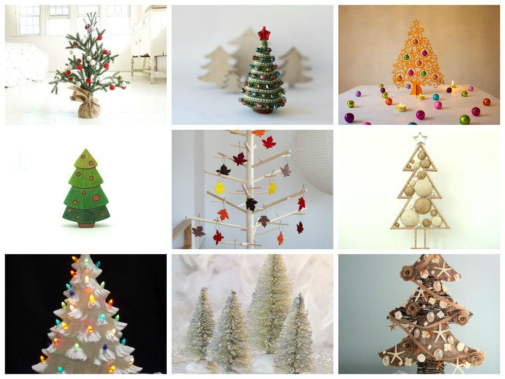 21 Επιτραπέζια χριστουγεννιάτικα δέντρα να δημιουργήσετε μια γιορτινή Διάθεση