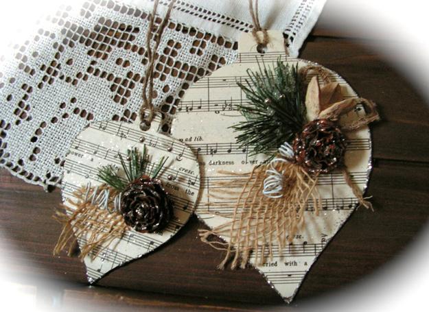 οικολογικά Χριστουγεννιάτικα στολίδια από χαρτί10