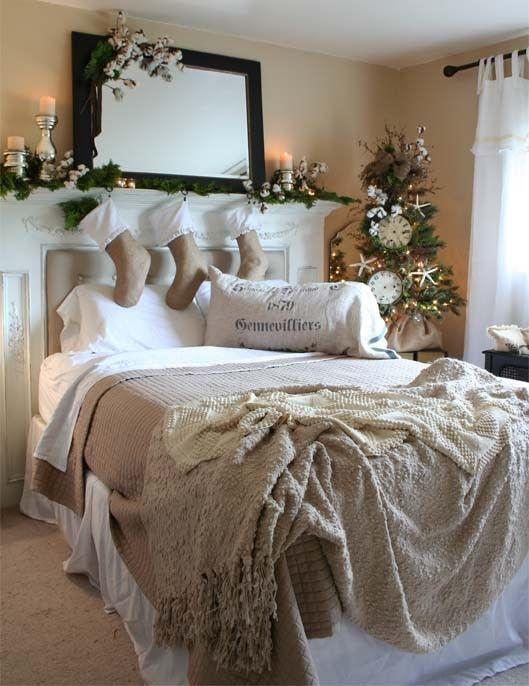 χριστουγεννιάτικη διακόσμηση κρεβατοκάμαρας10
