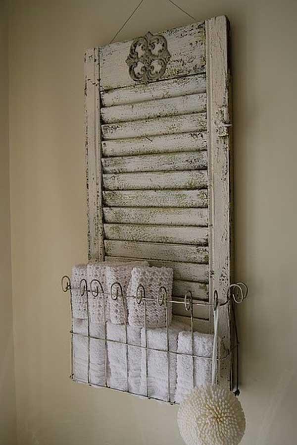 DIY ιδέες οργάνωσης για τις πετσέτες του μπάνιου σας.10
