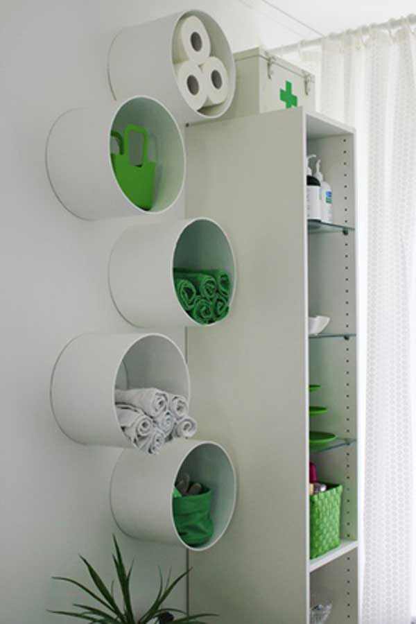 DIY ιδέες οργάνωσης για τις πετσέτες του μπάνιου σας.8