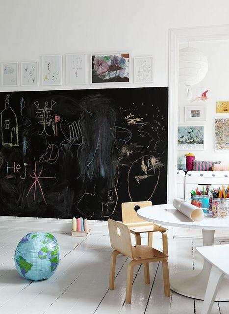 Ιδέες ντεκόρ μαυροπίνακα για παιδικά δωμάτια13