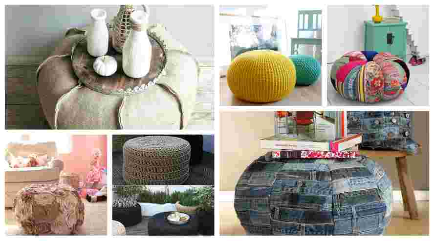 20 Καταπληκτικές Diy ιδέες και κατασκευές με Πούφ
