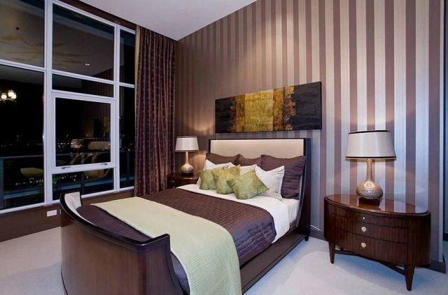 Μοντέρνα υπνοδωμάτια με Ριγέ τοίχους6