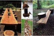 10 Απίθανες ιδέες για να διακοσμήσετε τον κήπο σας με κορμούς δέντρων ή κούτσουρα