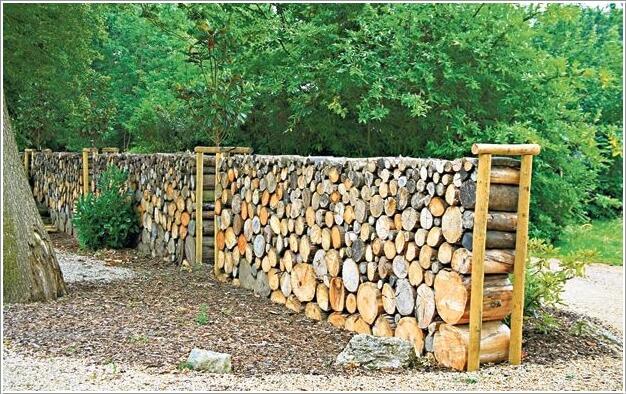 ιδέες για να διακοσμήσετε τον κήπο σας με κορμούς δέντρων ή κούτσουρα4