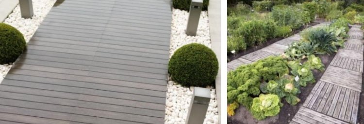 ιδέες με ξύλινα μονοπάτια κήπου7