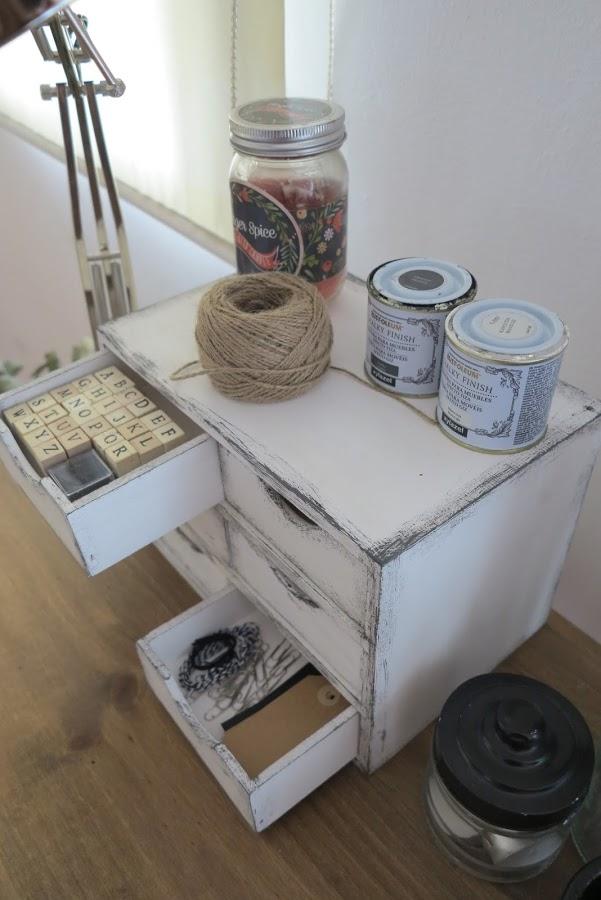 DIY Vintage συρτάρια με τεχνική πατίνας9