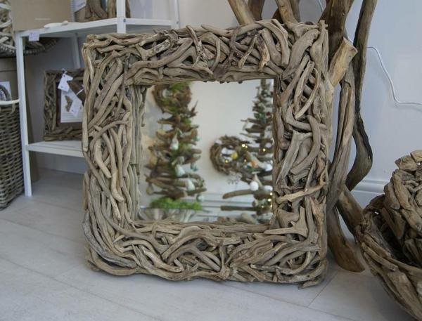 Diy ιδέες καθρέφτη από θαλασσόξυλα (16)