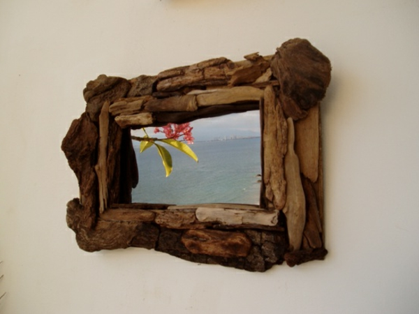 Diy ιδέες καθρέφτη από θαλασσόξυλα (7)