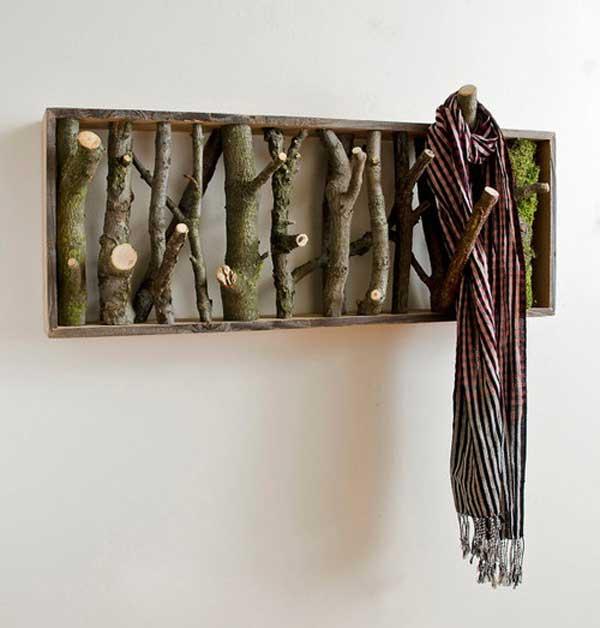 DIY ρουστίκ ιδέες διακόσμησης από θαλασσόξυλα και κούτσουρα3