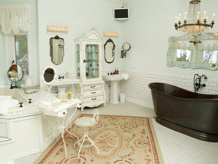 Shabby chic μπάνιο ιδέες4