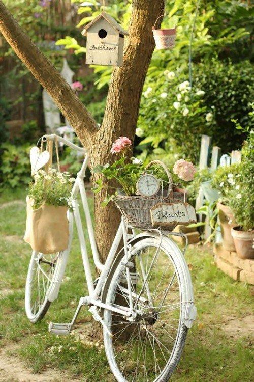 διακόσμηση κήπου με ποδήλατα3