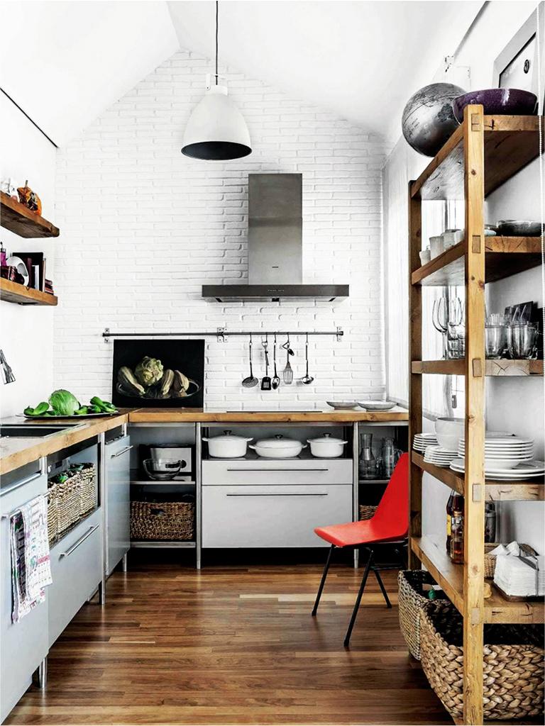 Iδέες σχεδιασμού μικρής κουζίνας43