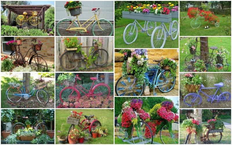 20+ Υπέροχες ιδέες για το πώς να ομορφύνετε τον κήπο με παλιά ποδήλατα