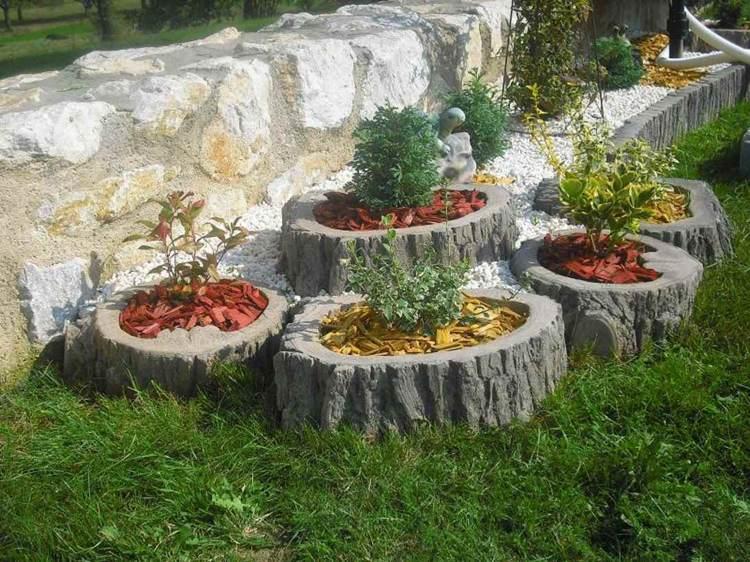 Μπετόν ζαρντινιέρες κήπου21