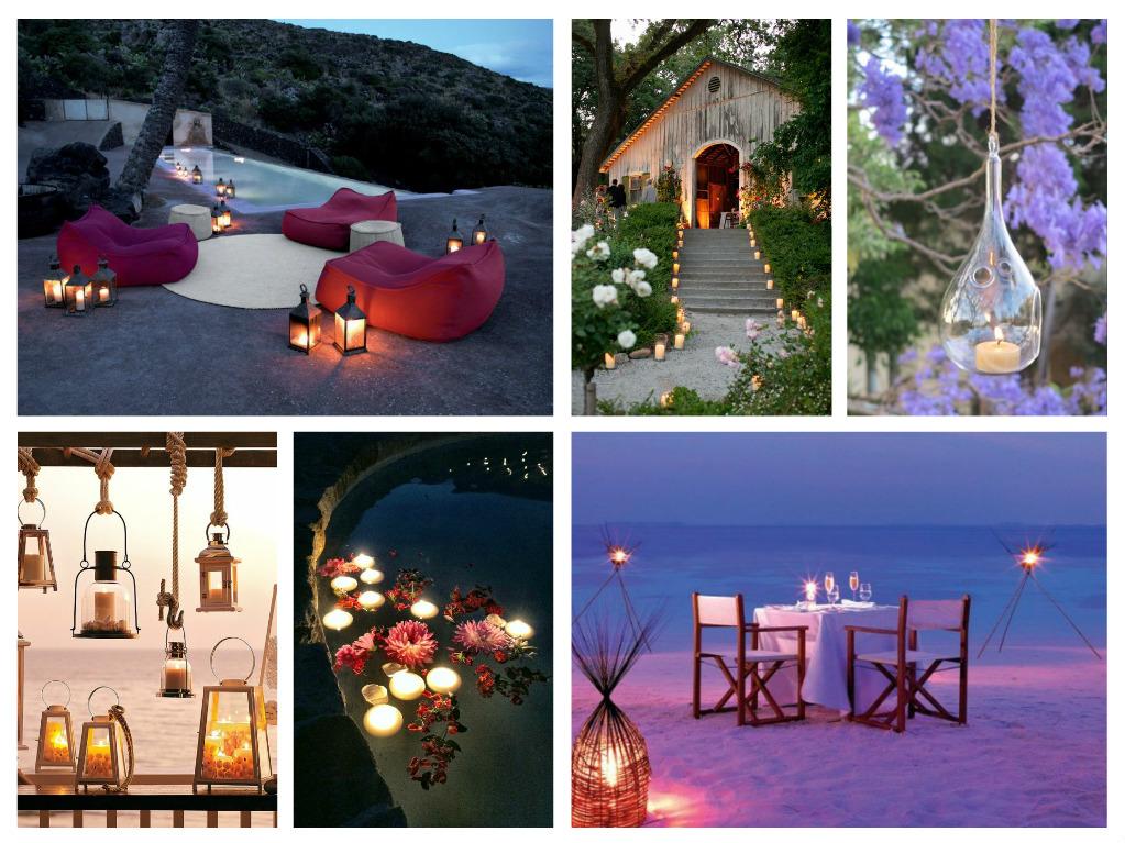 Ρομαντική διακόσμηση για ένα αξέχαστο καλοκαιρινό βράδυ