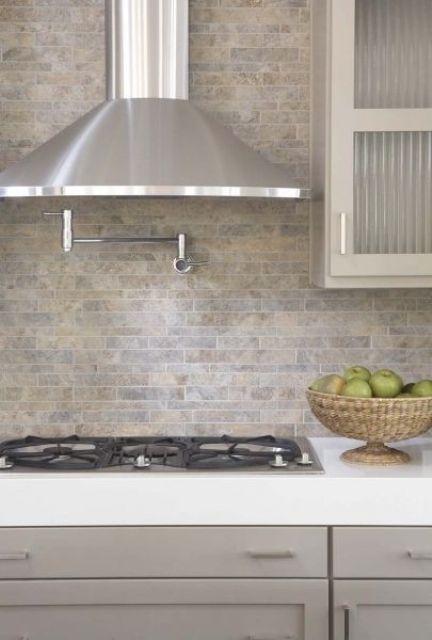 ιδέες με πέτρες, τούβλα και βότσαλα για τοίχους κουζίνας40