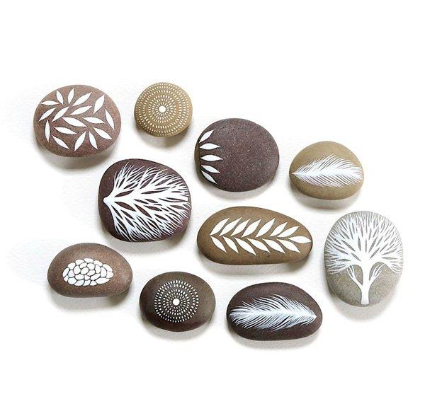 DIY ιδέες διακόσμησης με βαμμένες πέτρες και βότσαλα17