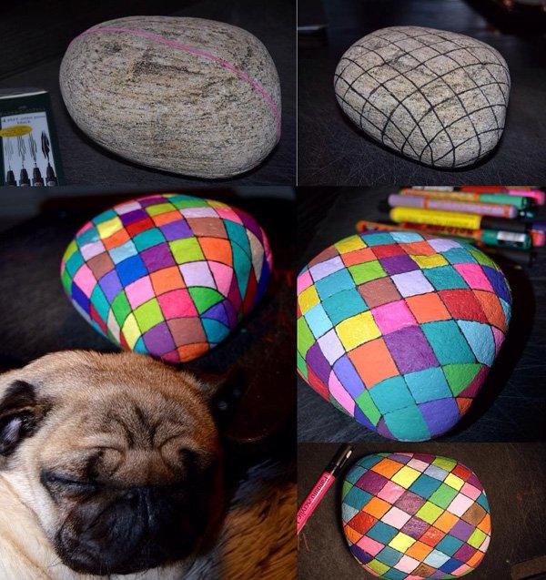 DIY ιδέες διακόσμησης με βαμμένες πέτρες και βότσαλα35