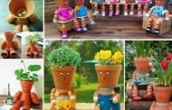 Πως να κάνετε διακοσμητικά ανθρωπάκια για τον κήπο σας από πήλινες και πλαστικές γλάστρες (βίντεο)