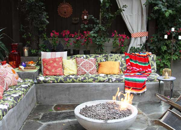 ιδέες στολισμού κήπου στο μποέμικο στυλ2