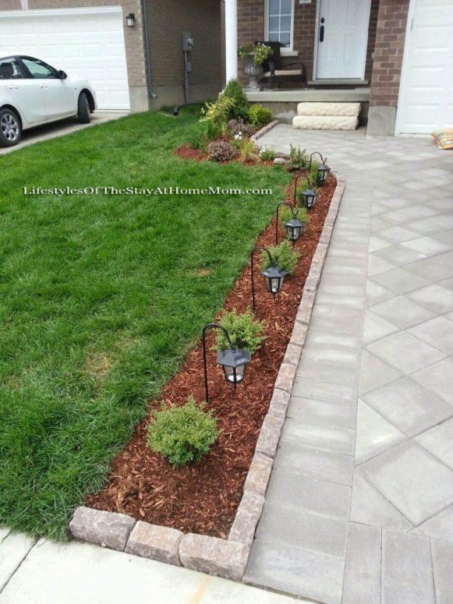 ιδέες σχεδιασμού μπροστινού κήπου και αυλής13