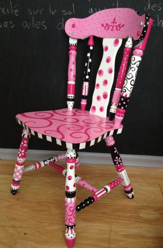 πώς να διακοσμήσετε και να βάψετε παλιές καρέκλες19
