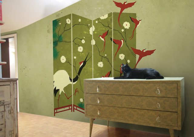 διακόσμηση τοίχου με ταπετσαρίες18