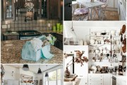 Shabby Chic κουζίνα - Ζεστή και νοσταλγική, με ρομαντική ατμόσφαιρα