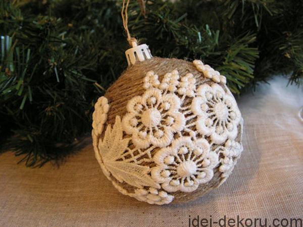 Χριστουγεννιάτικα στολίδια από λινάτσα53